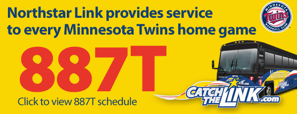 Northstar Link provides service to every Minnesota Twins home game
