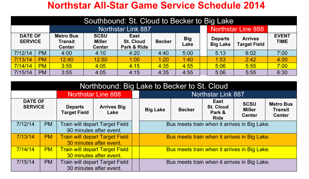 Northstar Link special service for Major League Baseball® All-Star Week™
