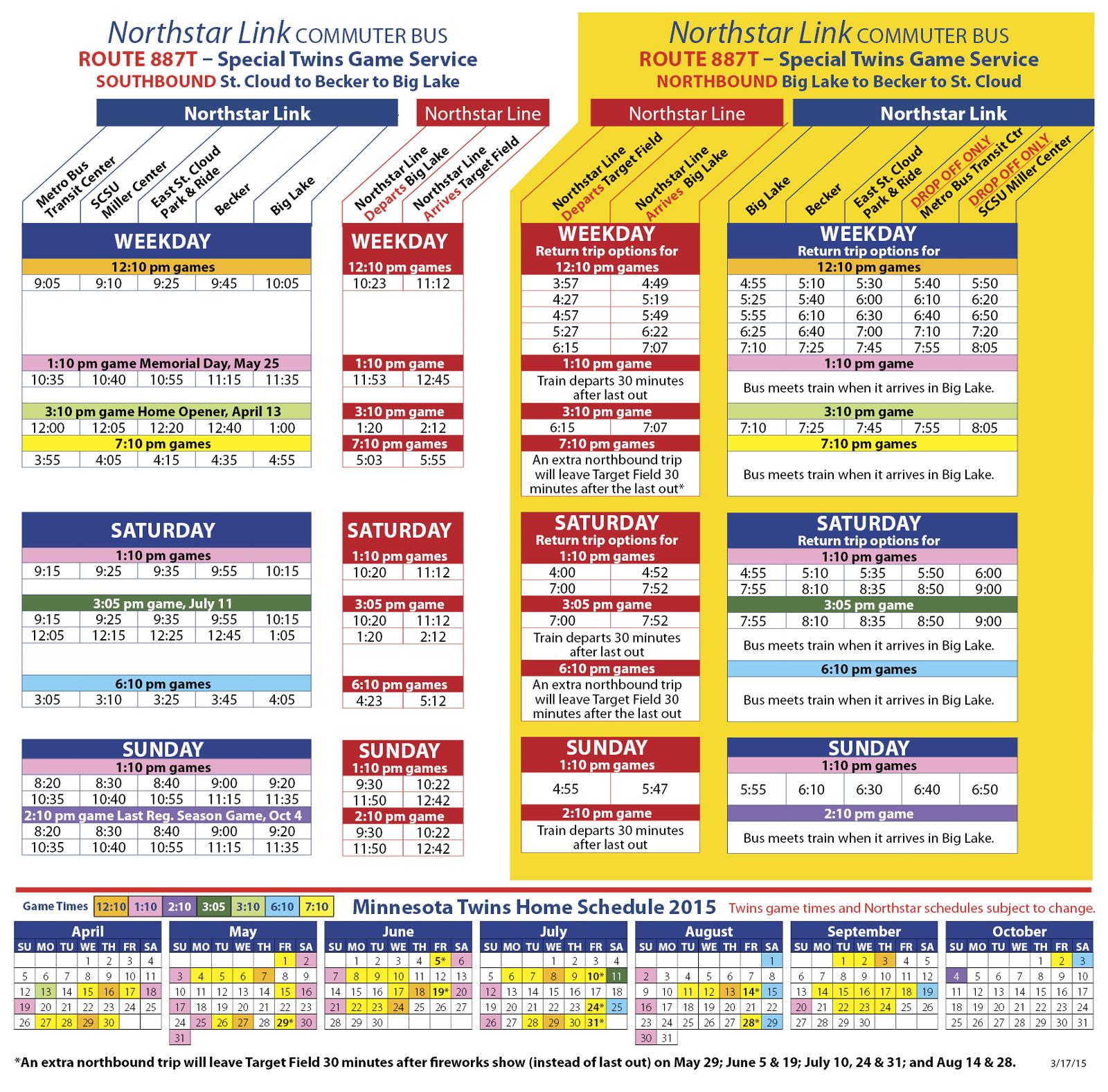 Light Rail Northbound Schedule