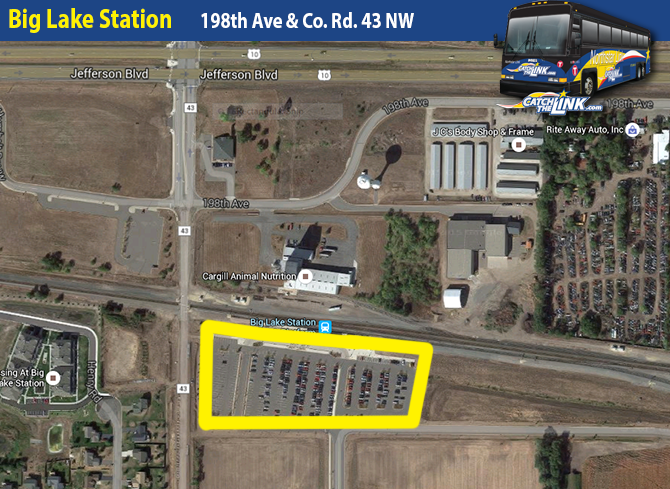 Big Lake Station is located at 198th Ave and County Road 43 NW